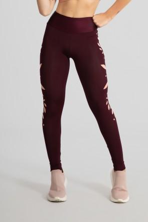 Calça Legging Básica com Silk (Bordô) | Ref: GO528-B