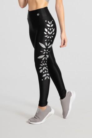 Calça Legging Básica com Silk (Preto) | Ref: GO528-C