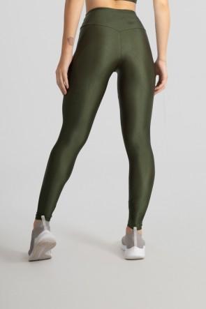 Calça Legging com Cós Triangular (Verde Militar) | Ref: GO530-D