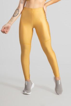 Calça Legging com Chapado (Ouro) | Ref: GO468-E
