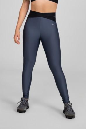 Calça Legging com Elástico em X (Chumbo / Preto) | Ref: K2875-C