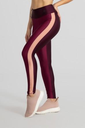 Calça Legging com Faixa Frontal (Bordô / Vinho / Rosê) | Ref: GO464-C