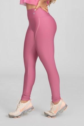 Calça Legging com Recorte Curvo e Pesponto (Rosa) | Ref: K2886-H