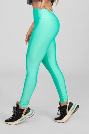 Calça Legging com Recorte Curvo e Pesponto (Verde Esmeralda) | Ref: K2886-J