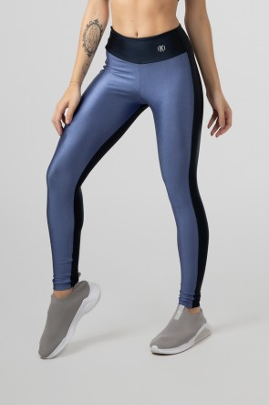 Calça Legging Duas Cores (Azul / Azul Marinho) | Ref: GO472-E