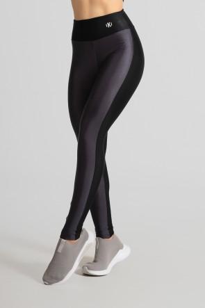 Calça Legging Tecido Platinado Duas Cores (Chumbo / Preto) | Ref: GO472-C