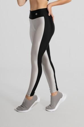 Calça Legging Tecido Platinado Duas Cores (Prata / Preto) | Ref: GO472-B