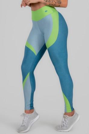 Calça Legging Estampa Digital Cós Duplo (Young Neon) | Ref: K2999-A