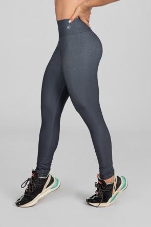 Calça Legging Estampa Digital com Cós Duplo (Black Blend) | Ref: K2975-A