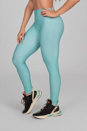 Calça Legging Estampa Digital com Cós Duplo (Green Splash) | Ref: K2901