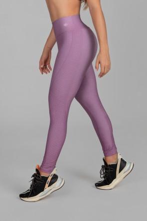 Calça Legging Estampa Digital com Cós Duplo (Purple Night) | Ref: K2917
