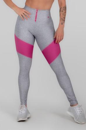 Calça Legging Estampa Digital com Zíper no Cós (Pink Phase) | Ref: K3003-A