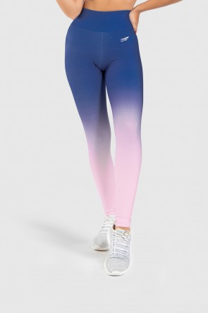 Calça Legging Fitness Estampa Digital Blue Hour | Ref: GO250