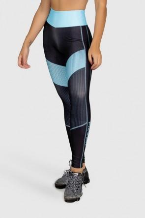 Calça Legging Fitness Estampa Digital Blue Points | Ref: GO280