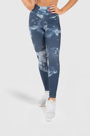 Calça Legging Fitness Estampa Digital Blue Splash | Ref: GO247