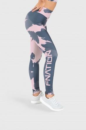 Calça Legging Fitness Estampa Digital Brush Colors | Ref: GO213