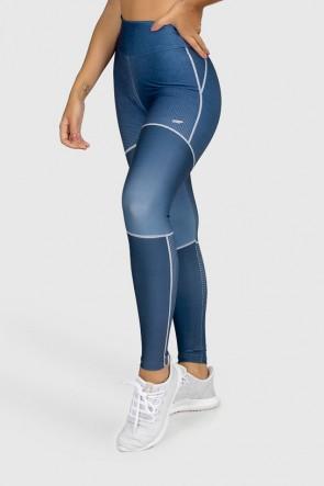 Calça Legging Fitness Estampa Digital Deep Blue | Ref: GO299