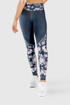Calça Legging Fitness Estampa Digital Drawn Flowers | Ref: GO311