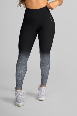 Calça Legging Fitness Estampa Digital Gray Gradient | Ref: GO190