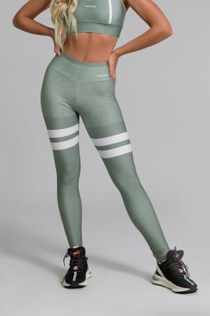 Calça Legging Fitness Estampa Digital Green Army | Ref: GO390