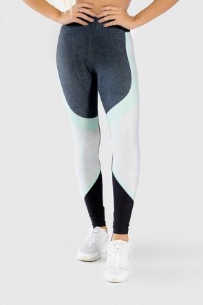 Calça Legging Fitness Estampa Digital Green Twist  Ref GO294