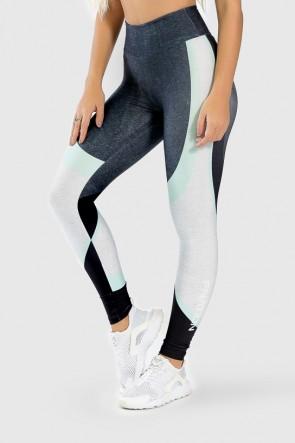 Calça Legging Fitness Estampa Digital Green Twist | Ref: GO294