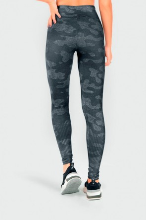 Calça Legging Fitness Estampa Digital Militar Wave | Ref: GO211