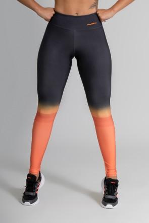 Calça Legging Fitness Estampa Digital Orange Mix | Ref: GO365