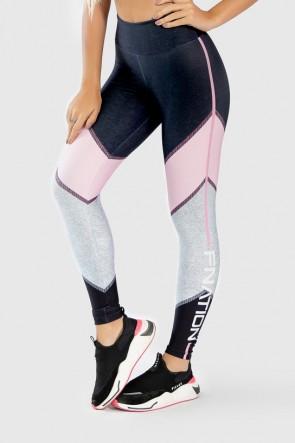Calça Legging Fitness Estampa Digital Pink Arrow | Ref: GO274