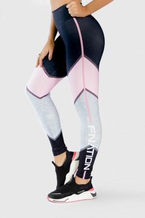 Calça Legging Fitness Estampa Digital Pink Arrow  Ref GO274