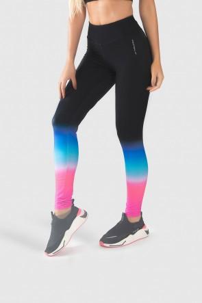 Calça Legging Fitness Estampa Digital Pink Blue Gradient | Ref: GO237