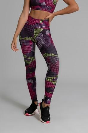 Calça Legging Fitness Estampa Digital Purple Screen | Ref: GO361