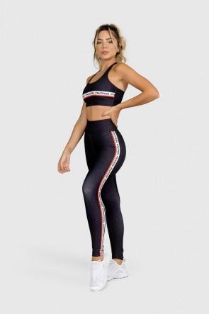 Calça Legging Fitness Estampa Digital Red Lines | Ref: GO326
