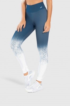 Calça Legging Fitness Estampa Digital Snow Flakes | Ref: GO252
