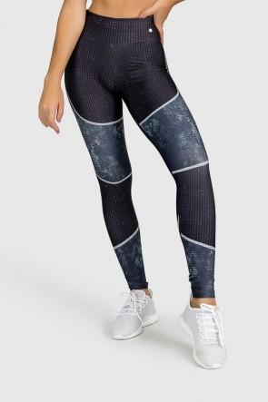 Calça Legging Fitness Estampa Digital Tricot Pattern | Ref: GO259