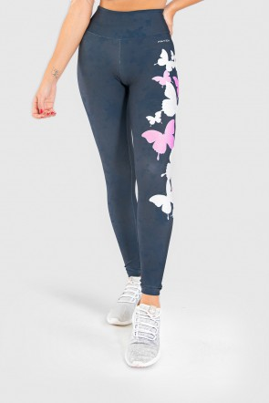 Calça Legging Fitness Estampa Digital Wings of a Butterfly | Ref: GO212