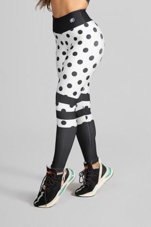 Calça Legging Sublimada Black Spotted | Ref: K2303-A