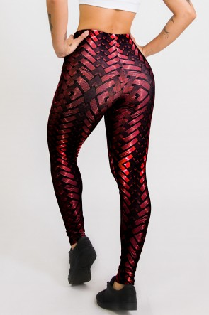 Calça Legging Sublimada New Braided Red | Ref: CA439-041-000