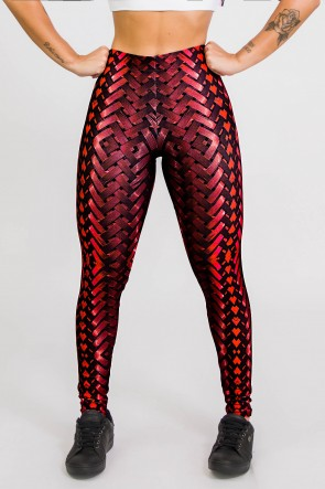 Calça Legging Sublimada New Braided Red  Ref CA439-041-000