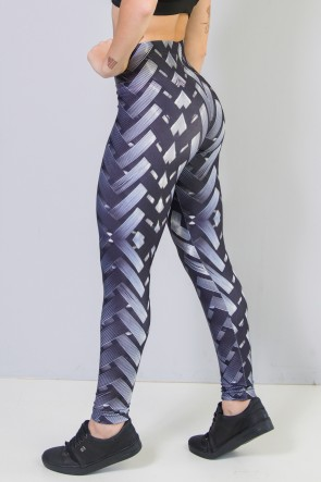 Calça Legging Sublimada New Braided Gray | Ref: CA440-041-000