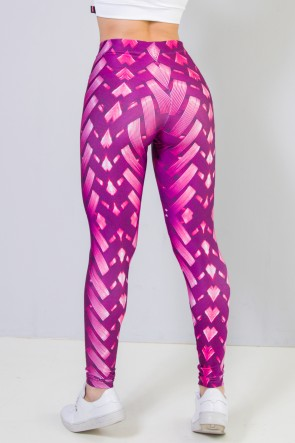 9c7ea926b Calça Legging Sublimada New Braided Pink