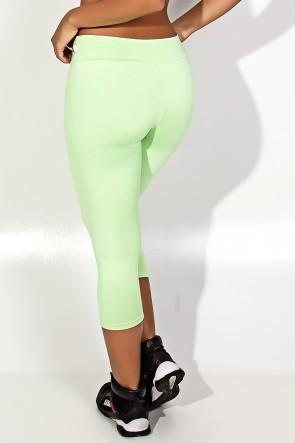 Calça Corsário  (Verde Claro) | Ref:F73-004