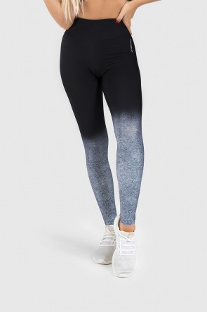 Calça Legging Fitness Estampa Digital Gray Gradient | Ref: GO190