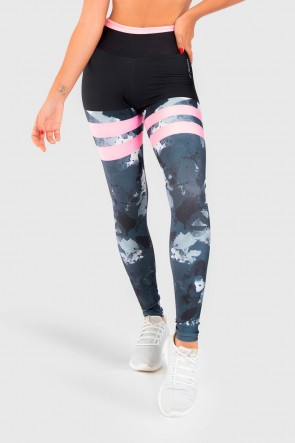 Calça Legging Fitness Estampa Digital Marmorized | Ref: GO172