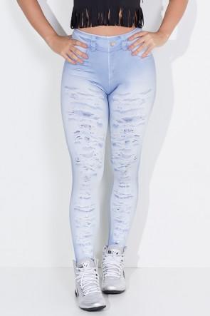 Legging Jeans Rasgado Sublimado | Ref: KS-F1797