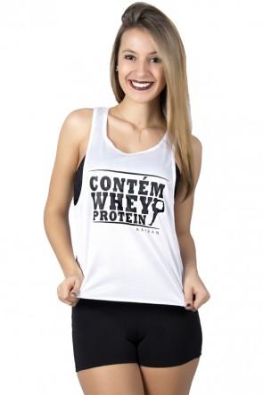 Camiseta Fitness Dry Fit Trançada (Contém Whey Protein) | Ref: KS-F306