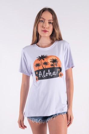 Camisetão com Silk Silk Aloha (Branco) | Ref: K2849-B