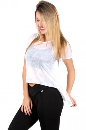 Camiseta Thayla Mullet Tecido Transparente | F374