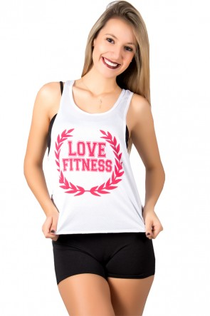 Camiseta Fitness Dry Fit Trançada (Love Fitness) | Ref: F716