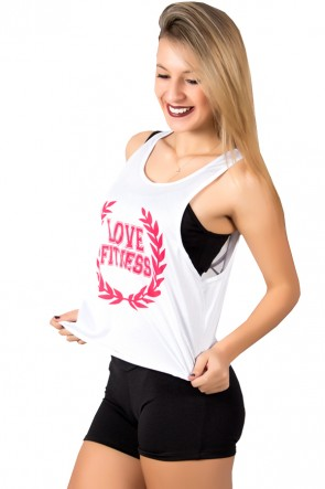 Camiseta Fitness Dry Fit Trançada (Love Fitness) | Ref: KS-F716